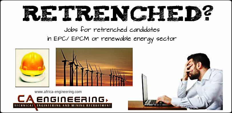 Jobs for retrenched candidates in EPC/ EPCM or renewable
